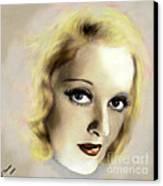 Bette Davis Eyes Canvas Print by Arne Hansen