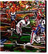 Beware Of The Tiger - Auburn Vs Georgia Football Canvas Print by Mark Moore