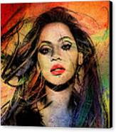 Beyonce Canvas Print by Mark Ashkenazi