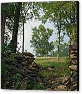 Beyond The Rock Fence Canvas Print