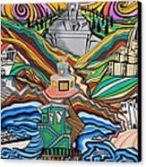 Beyond The Sea Canvas Print by Carlos Martinez