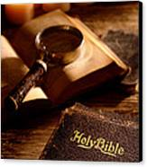 Bible Study Canvas Print by Olivier Le Queinec