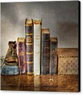 Bibles And Hymnbooks Canvas Print by David and Carol Kelly