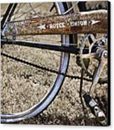 Bicycle Gears Canvas Print by Debra and Dave Vanderlaan