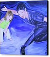 Big And Little Women Dancing Canvas Print