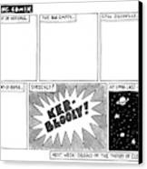 Big Bang Comix Canvas Print by Jack Ziegler