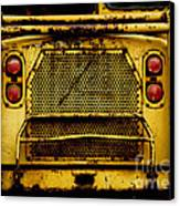 Big Dump Truck Grille Canvas Print by Amy Cicconi