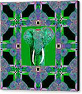 Big Elephant Abstract Window 20130201p128 Canvas Print by Wingsdomain Art and Photography