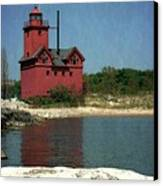 Big Red Holland Michigan Lighthouse Canvas Print