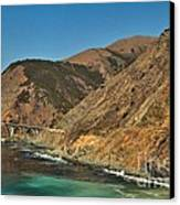 Big Sur And The Bridge Canvas Print by Adam Jewell