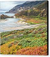 Big Sur California In Autumn Canvas Print by Pierre Leclerc Photography