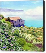 Big Sur Cottage Canvas Print by Mary Helmreich