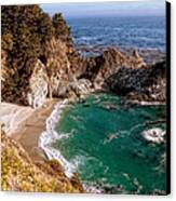 Big Sur - Mcway Falls Canvas Print by Glenn McCarthy Art and Photography