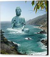 Big Sur Tea Garden Buddha Canvas Print by Alixandra Mullins