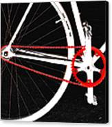 Bike In Black White And Red No 2 Canvas Print by Ben and Raisa Gertsberg