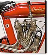 Bike - Motorcycle - Indian Motorcycle Engine Canvas Print by Mike Savad