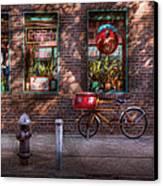 Bike - Ny - Chelsea - The Delivery Bike Canvas Print by Mike Savad