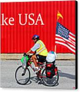 Bike Usa Canvas Print