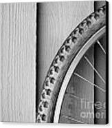 Bike Wheel Black And White Canvas Print by Tim Hester
