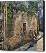 Bikes Canvas Print by Karen Walzer