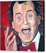 Bill Murray Canvas Print by Linda Vaughon
