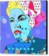Billie Holiday Canvas Print by Ricky Sencion