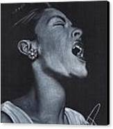 Billie Holiday Canvas Print by Rosalinda Markle