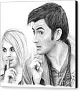 Billie Piper And David Tennant 2 Canvas Print by Rosalinda Markle