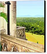 Biltmore Balcony Asheville Nc Canvas Print by William Dey