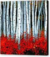 Birch 24 X 48  Canvas Print by Michael Swanson