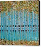 Birch Confetti Canvas Print by Deborah Glasgow