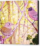 Bird Pair Canvas Print by Linda Vaughon