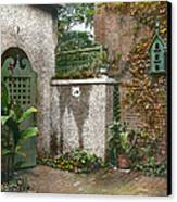 Birdhouse And Gate Canvas Print by Terry Reynoldson