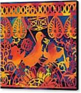 Birds Carnival Canvas Print by Nekoda  Singer