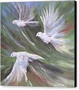 Birds Three Canvas Print by Paula Marsh
