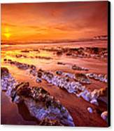 Birling Gap Sunset Canvas Print by Mark Leader