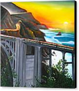 Bixby Coastal Bridge Of California At Sunset Canvas Print