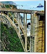 Bixby Creek Bridge Panorama Canvas Print by Benjamin Yeager
