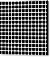 Black And White Dots Canvas Print by Daniel Hagerman