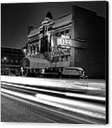 Black And White Light Painting Old City Prime Canvas Print