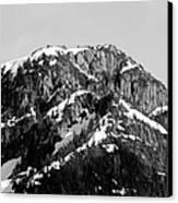 Black And White Mountain Range 1 Canvas Print by Diane Rada