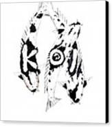 Black And White Trio Of Koi Canvas Print