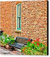 Black Bench Canvas Print by Keith Ducker
