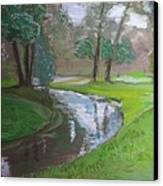 Black Hancza River Canvas Print