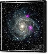 Black Holes In Spiral Galaxy Nasa Canvas Print by Rose Santuci-Sofranko