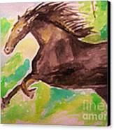 Black Horse Canvas Print by Sidney Holmes