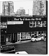 black top and checker cabs office Vancouver BC Canada Canvas Print
