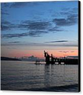Blackrock After Sunset Canvas Print by Peter Skelton