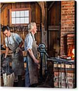 Blacksmith And Apprentice 2 Canvas Print by Steve Harrington