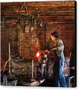 Blacksmith - Cooking With The Smith's  Canvas Print by Mike Savad